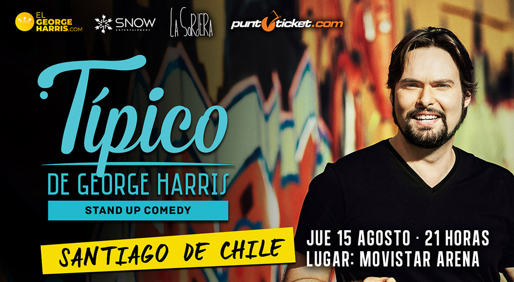15 agosto - George Harris - Típico Stand Up Comedy