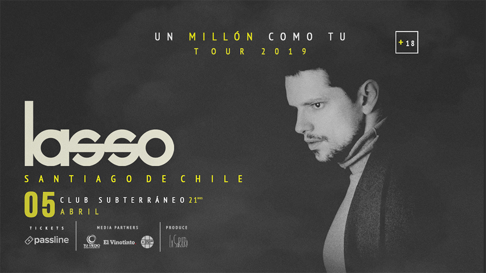 05 abril - Lasso: Un millón como tú tour 2019